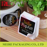 China Black color Custom die cut labels on rolls and single piece with your logo design wholesale