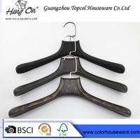 China Black ABS Plastic Modern Clothes Hangers / Coat Hangers For Skirts wholesale