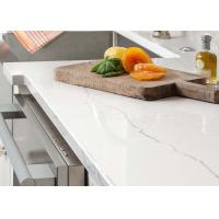 Glossy Natural Man Made Quartz Countertops With Beautiful Stripe