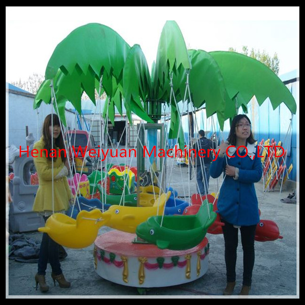 Quality Rotating Flying Fish kiddie ride for 12 kids for amusement park for sale