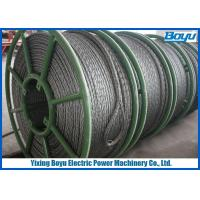 China Overhead Cable Stringing 28mm Pilot Wire / Pilot Rope Galvanized Steel Wire Rope wholesale