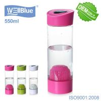 China Healthy Alkaline Plastic Water Bottle With Filter Easy Opening Fill Lid And Pour Out on sale