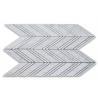 China Chevron Stone Mosaic Tile Kitchen Wall Carrara White Polished Marble Mosaic Tile wholesale