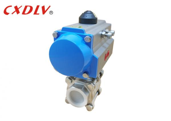 Quality PN16 Pneumatic Actuated Ball Valve Double Acting Piston Double Flange Ends for sale
