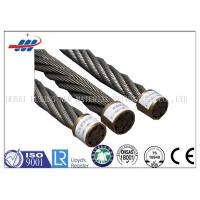 China CE Ungalvanized Steel Wire Rope 1570-1960MPA , Compacted Strand Wire Rope 6xK19S+FC wholesale