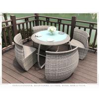 China Outdoor Rattan Table And Chairs Set , Garden Patio Table Set UV Resistant wholesale