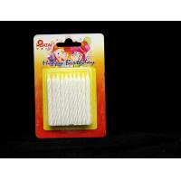 China Shining White Spiral Glitter Birthday Candles ,  Happy Anniversary Cake Candles wholesale