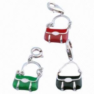 China Charm, 925 Sterling Silver charms, Pendant Charm, Charm for Bracelet, Handbag Charm wholesale