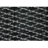 China 3X6 Hole Welded Razor Mesh Made Of Galvanized Steel And Wire Fencing Panel on sale