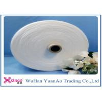 China Raw White Polyester sewing Yarn S and Z Twist Dyed Polyester Yarn Manufacturing Process wholesale