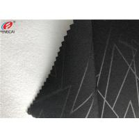 China Embossed 4 Way Stretch Fabric Composite With Polyester Brushed Fabric Garment Use wholesale