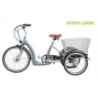 China Long Range Electric Trike Bicycle , 3 Wheel Cargo Bike With Removable Battery wholesale