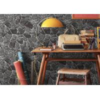 China Stone Printing Chinese Style Washable Vinyl Wallpaper For Interior Room Decoration wholesale