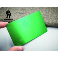 China Colorful Anodized Sublimation 304 Steel Metal VIP Business Cards 0.7 / 0.8mm Thickness wholesale