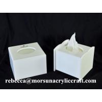 China Cheap price wholesale cubic white acrylic tissue boxes in China on sale