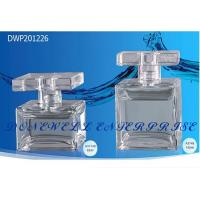 Buy cheap Square Spray Empty Glass Perfume Bottles Perfume Bottle With Crimped Pump from wholesalers