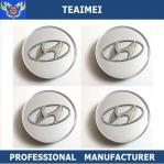 China 60MM Chrom ABS Plastic Car Logo Custom Wheels Center Caps For Hyundai wholesale