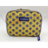 China 420D Printing Polyester Travel Cosmetic Bags Yellow Color Customized Logo wholesale