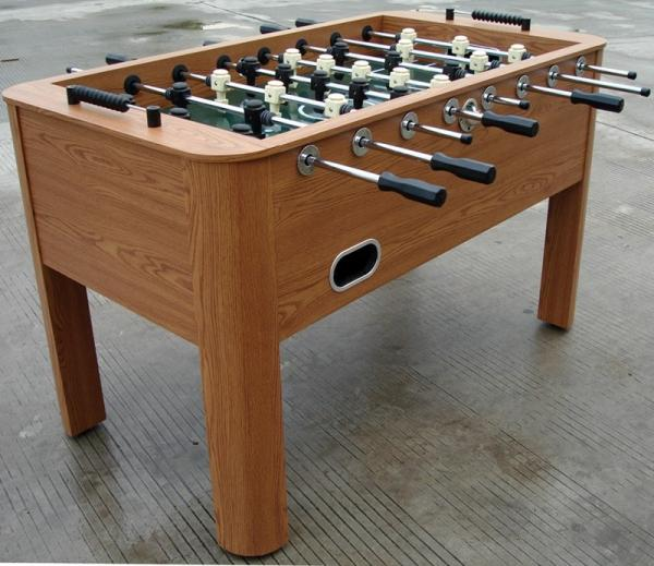 Quality Wooden Soccer Game Table PVC Lamination Steel Rod Robot Player For Club for sale
