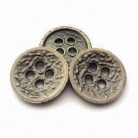 Buy cheap 15mm Metal Buttons, Various Sizes are Available, Customized Designs and Logos from wholesalers
