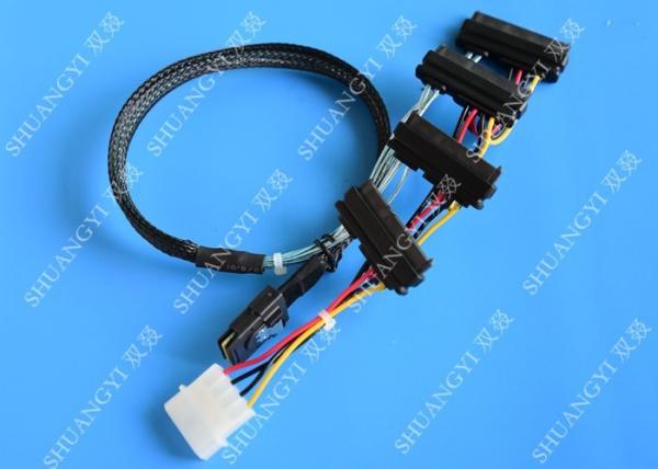 Quality SFF 8087 To SFF 8482 Dual Port SAS Power Cable SAS TO SAS Length 0.65m for sale