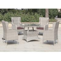 Elegant Hotel Outdoor Rattan Furniture Modern Table and Wicker Chairs