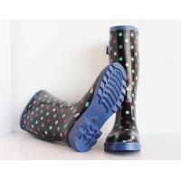 China Waterproof Printed Gum Boots, Women's Rubber Rain Boot on sale