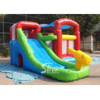 China Kids inflatable combo water bounce house with pool N water gun made of best pvc tarpaulin wholesale