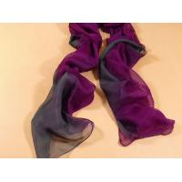 China 2013 new fashion purple and grey gradient color Hand Painted Silk Scarf/ chiffon scarves shawls on sale