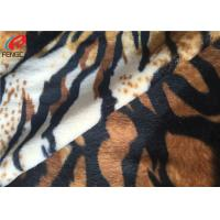 China Plain Dyed Polyester Velvet Fabric With Animal Design Printed For Upholstery on sale