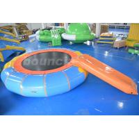 China Durable PVC Tarpaulin Inflatable Water Bouncer / Trampoline For Pool on sale