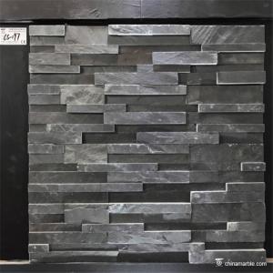 China Slate Culture Stone Black Slate Stone Wall Rockface Cladding CS-197 wholesale