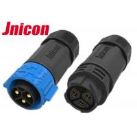 China Cable To Cable Waterproof Male Female Connector M25 3 Pin Push locking wholesale