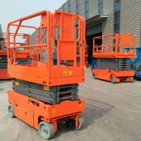 China Manganese Steel Electric Aerial Work Platform Lift Height 6m Hydraulic Drive wholesale