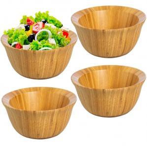 China Eco-Friendly 6inch  Bamboo Salad Bowl Set For Food Storage Display Mixing Bowls wholesale