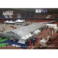 China Tear Resistant Sport Event Tents With Transaprent Roof Covers With Light And Some Tanles wholesale