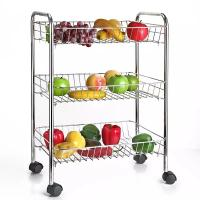 China H287 3 Layer Stainless Steel Fruit and Vegetable Stand Basket Trolley Modern Kitchen Storage Rack on sale
