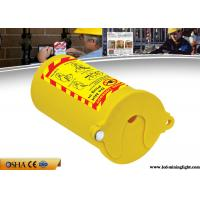 China PP Material Lock Out Tag Out , Yellow Pneumatic Gas Cylinder Lockout Tagout wholesale