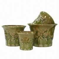 China Ceramic Flower Pots/Planters, Customized Designs Welcomed wholesale