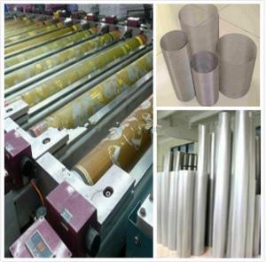 Buy cheap ワックスの印刷の織物の機械類の予備品の回転式スクリーンの高い利用の比率 from wholesalers