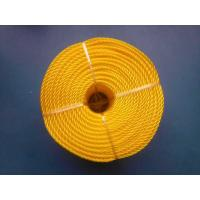 China 3 Strand High Strength PP Monofilament Twisted Rope For Packing , Yellow Color wholesale