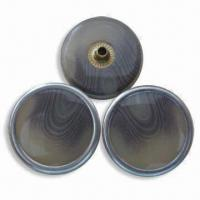 China Resin Face Spring Snap Fasteners, Metal-free, OEKO, TEX and CPSIA Standard wholesale