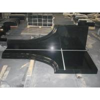 China absolute black granite tombstone wholesale