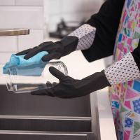 China Practical And Beautiful  Extra Long Sleeve Rubber Gloves  With Uniq Design on sale