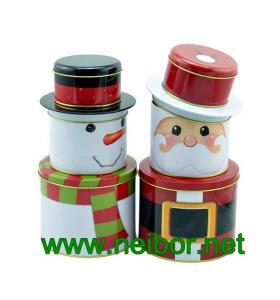 China Christmas holiday tin box decorative tin box on sale