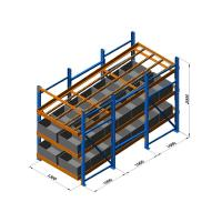 China Industrial Steel Pallet Rack System , Logistic Distribution Central Warehouse Storage on sale