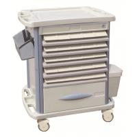 China Movable Hospital ABS Medicine Trolley With Double Side Tray , 720*470*920mm wholesale