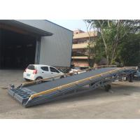 China 2000mm Width Container Mobile Yard Ramp 10 Ton / 15 Ton Light Grey Color wholesale