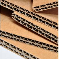 China Virgin Wood Pulp Corrugated Cardboard Sheet High Performance Brown Color wholesale