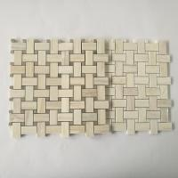 China Stone Mosaic Floor Tile Basketweave Design New Material Mosaic Tile Mesh Mounted wholesale